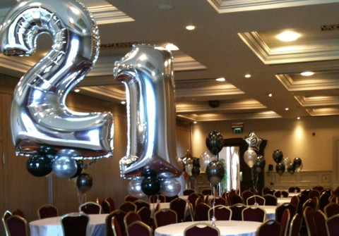 Foil Number 21st Birthday Party Helium Balloons In The Red Cow Dublin 12