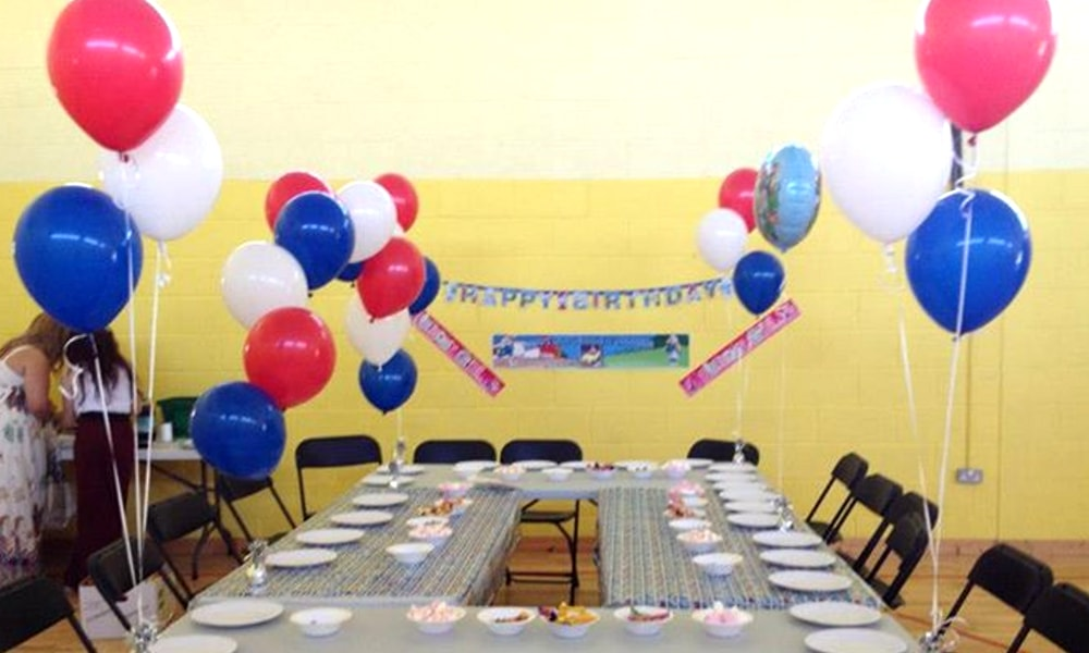 Childrens Birthday Party Helium Balloons In Kingswood Community Centre